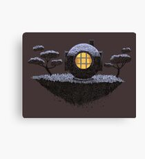 Floating Diver Home Sweet Home Canvas Print