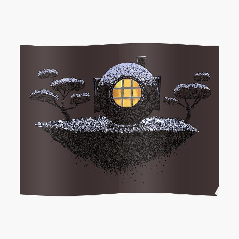 Floating Diver Home Sweet Home Poster