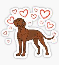 Vizsla is my Valentine Valentines Day Gifts Cute Valentine's Dog Animal Spirit Heart Funny V-day Puppy  T-Shirt Sweater Hoodie Iphone Samsung Phone Case Coffee Mug Tablet Case Gift Sticker