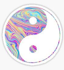 Rainbow Swirl Yin Yang Sticker