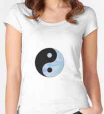 Holographic Yin Yang Women's Fitted Scoop T-Shirt