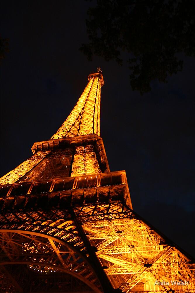 Eiffel Tower, Paris.   by Anita Welsh