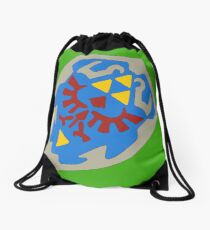 Hylian Shield Drawstring Bag