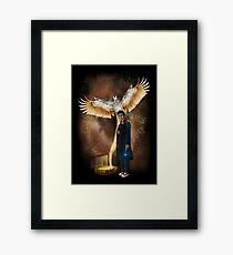 Time traveller with magic bag Framed Print
