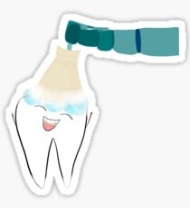 Happy Dental Cleaning Sticker