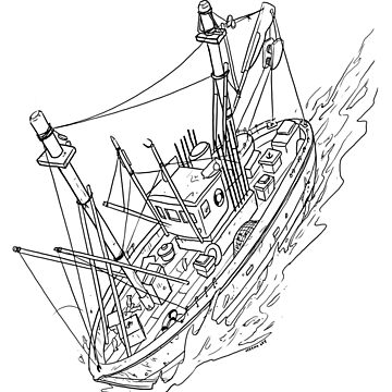 Fishing Boat Drawing by JeremyLey