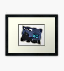 Greetings from Bates Motel! Framed Print