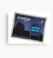 Greetings from Bates Motel! Canvas Print