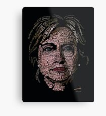 Hillary Clinton: Historic Women Portrait Metal Print