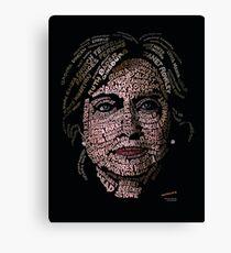 Hillary Clinton: Historic Women Portrait Canvas Print