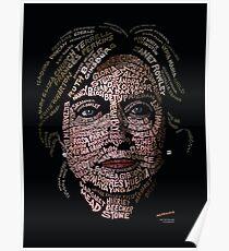 Hillary Clinton: Historic Women Portrait Poster