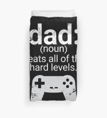 Dad Definition Beats All Hard Levels Funny Gift Duvet Cover