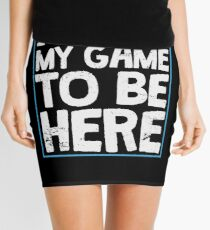 I Paused My Game To Be Here Funny Gamer Gift Mini Skirt