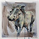 Warthog Painting by Julie Mayo