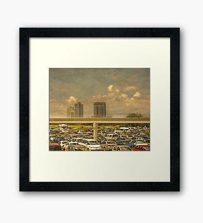 Theme Park Car Park Framed Print