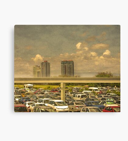 Theme Park Car Park Canvas Print