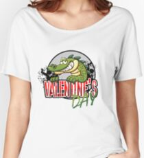 valentine's day alligator Women's Relaxed Fit T-Shirt