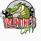 valentine's day alligator by bery-creative