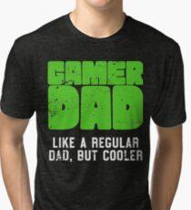 Gamer Dad Like A Regular Dad But Cooler Retro Gaming Tri-blend T-Shirt