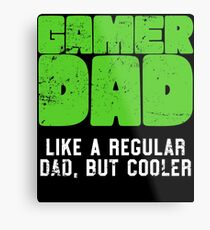 Gamer Dad Like A Regular Dad But Cooler Retro Gaming Metal Print
