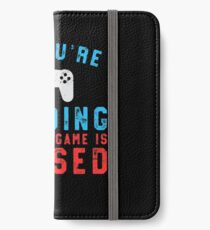 If You're Reading This My Game Is Paused Gaming iPhone Wallet/Case/Skin