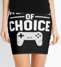 Weapon Of Choice Funny Game Controller Gamer  Mini Skirt