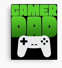 Gamer Dad Funny Retro Console Gaming Canvas Print