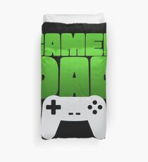 Gamer Dad Funny Retro Console Gaming Duvet Cover