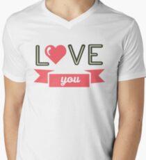 Valentine's Day Men's V-Neck T-Shirt