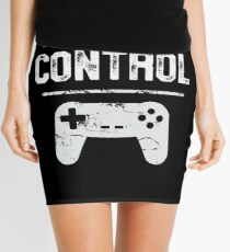 Always In Control Funny Retro Console Gaming Mini Skirt