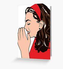 gossip girl Greeting Card