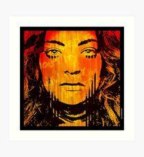 The Girl On Fire Art Print