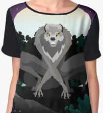 evil monster werewolf Chiffon Top