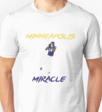 Stefon Diggs 'Minneapolis Miracle' Minimalist Art // Phone case, tshirt, stickers and more Unisex T-Shirt