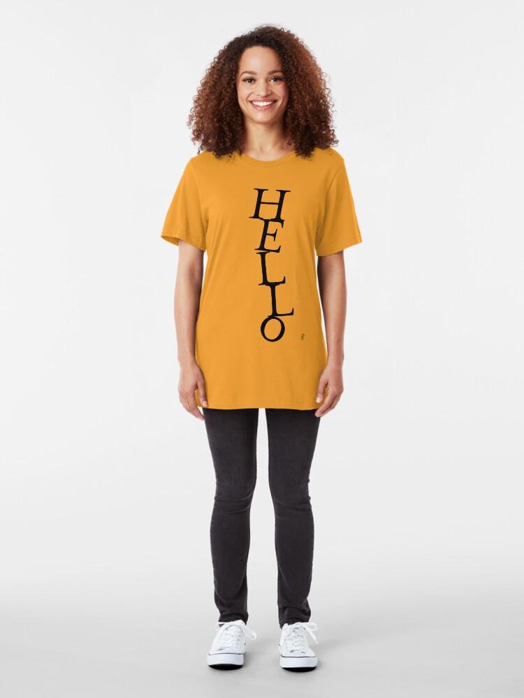 Alternate view of HELLO Slim Fit T-Shirt