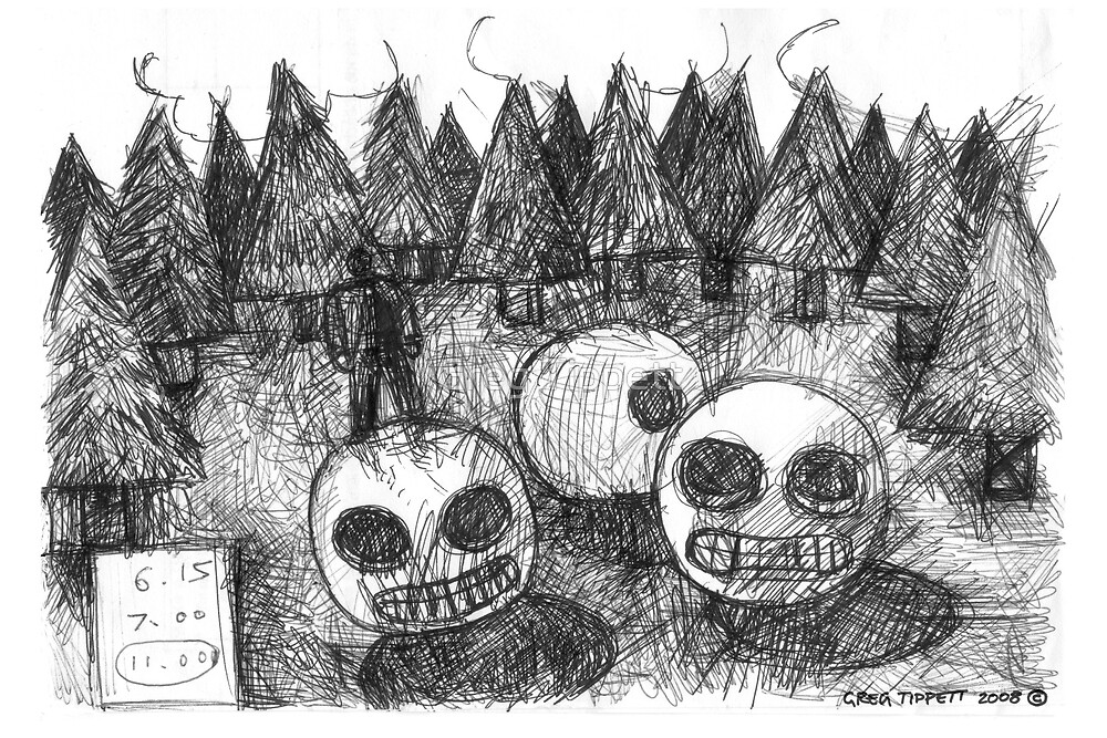 Three Strange Creatures by Greg Tippett