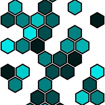 Cyan Honeycomb by bery-creative