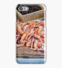 Fresh Raw Langoustine Lobsters iPhone Case/Skin