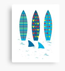 Graphic Surfboards - Srufer Canvas Print