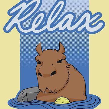 Hotspring Capybara by Pawgyle