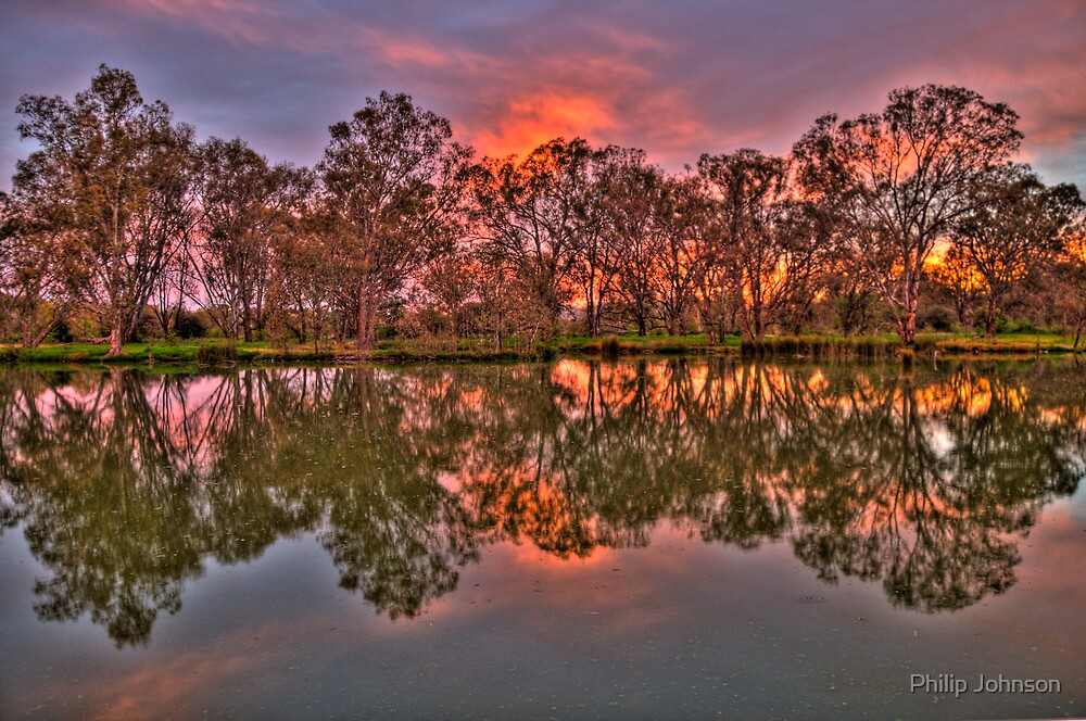River Reflections - Murray River, Albury , NSW - The HDR Experience by Philip Johnson