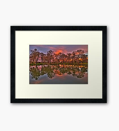River Reflections - Murray River, Albury , NSW - The HDR Experience Framed Print