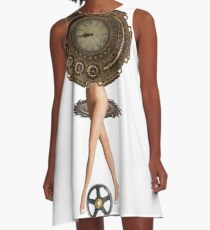 Cyberpunk, Steampunk, Technopunk, Science fiction,  SF, sci-fi,  speculative fiction,  Cyberpunk artwork A-Line Dress