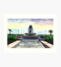 Pineapple Fountain, Waterfront Park, Charleston, SC Kunstdruck