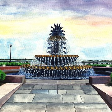 Pineapple Fountain, Waterfront Park, Charleston, SC by Artlife