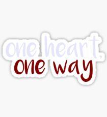 One Heart, One Way Sticker