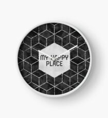GRAPHIC ART SILVER My happy place | black & silver Uhr
