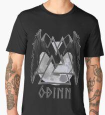 Viking God Odin- Old Norse Spelling- Valknut, Huginn and Muninn Men's Premium T-Shirt