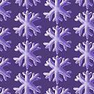 Ultra Violet Soft Snowflake Pattern by Boriana Giormova