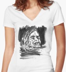 """""""Swallow Your Soul"""" Women's Fitted V-Neck T-Shirt"""